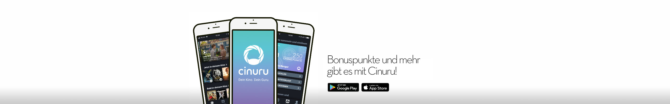 Bonuspunkte und mehr gibt es mit Cinuru!