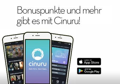 Bonuspunkte und mehr gibt es mit Cinuru